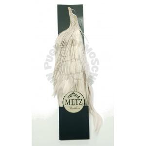 Half rooster cape Metz -3 White splash
