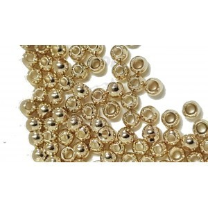 Palline in Tungsteno svasate 2,7 100pcs gold