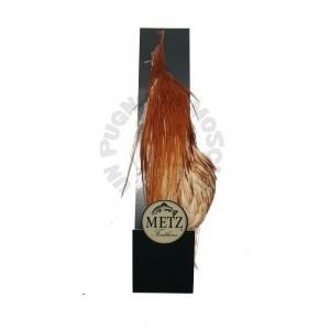 Half rooster cape Metz -3 Rusty Dun