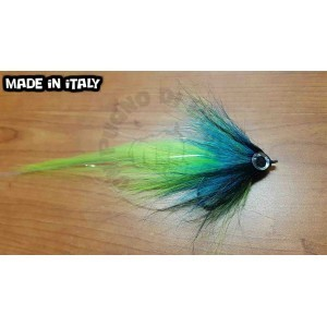 Pike streamer Fluo gn-Blue