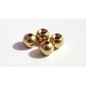 Brass balls 3,5 mm 25pcs gold
