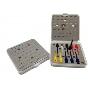 Fly box with tweezers