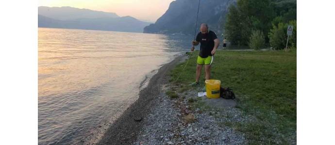 Pesca a mosca alternativa, sardine al lago.